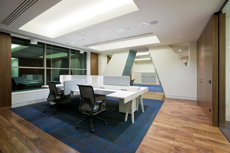 Modern office interior. In new building royalty free stock photography