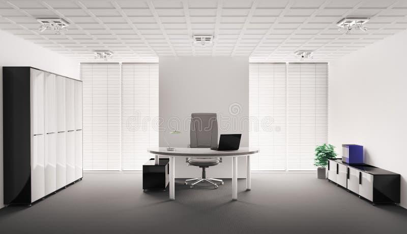 Modern office interior 3d royalty free illustration
