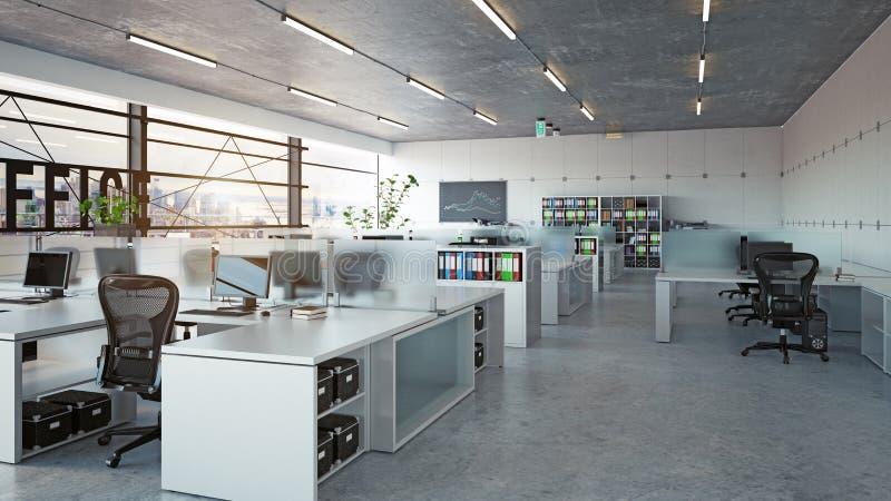 Modern office interior stock illustration