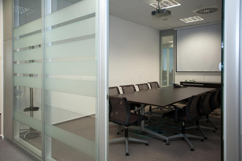 Modern office. Interior of the modern office in the new building royalty free stock photos