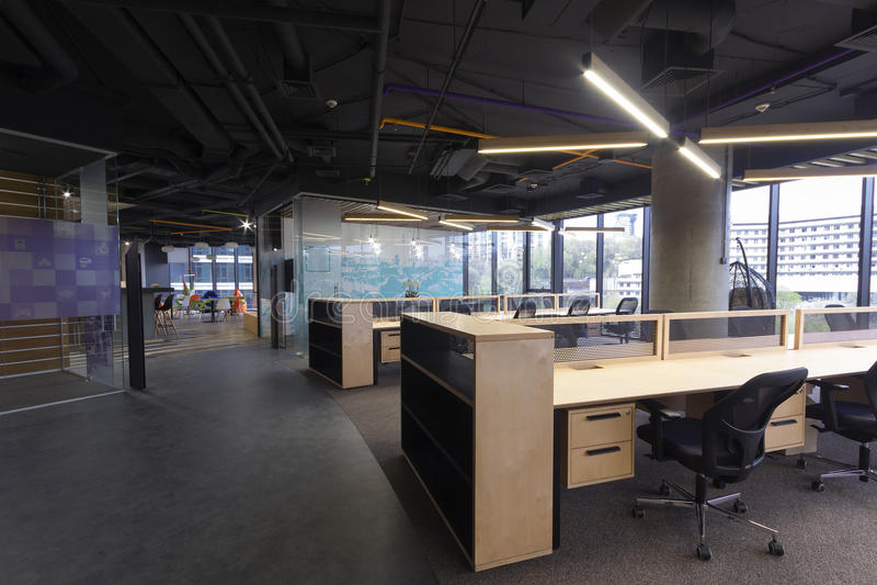 Modern office interior stock image