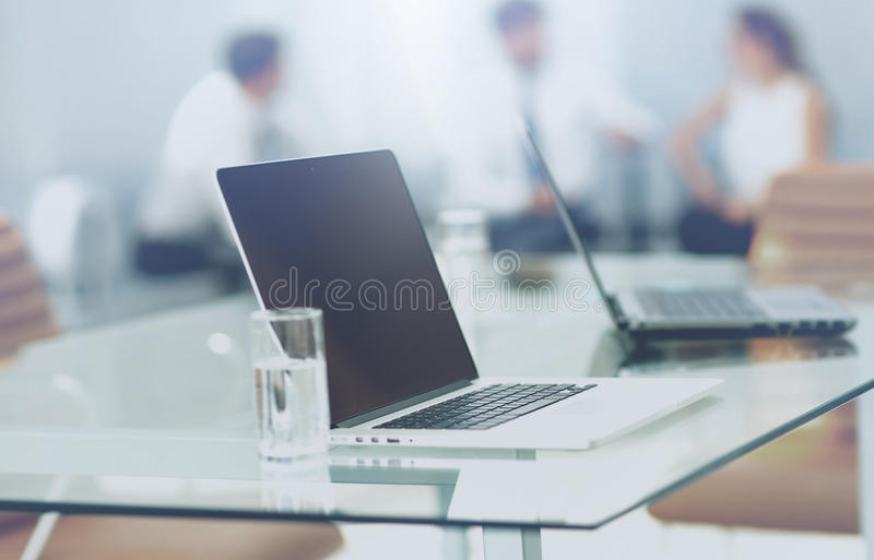 Modern office interior. Working process royalty free stock photo