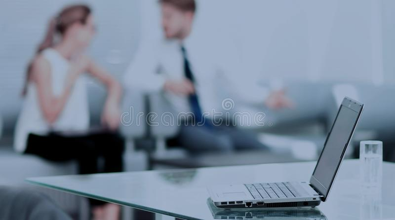 Working process in a modern office stock photo