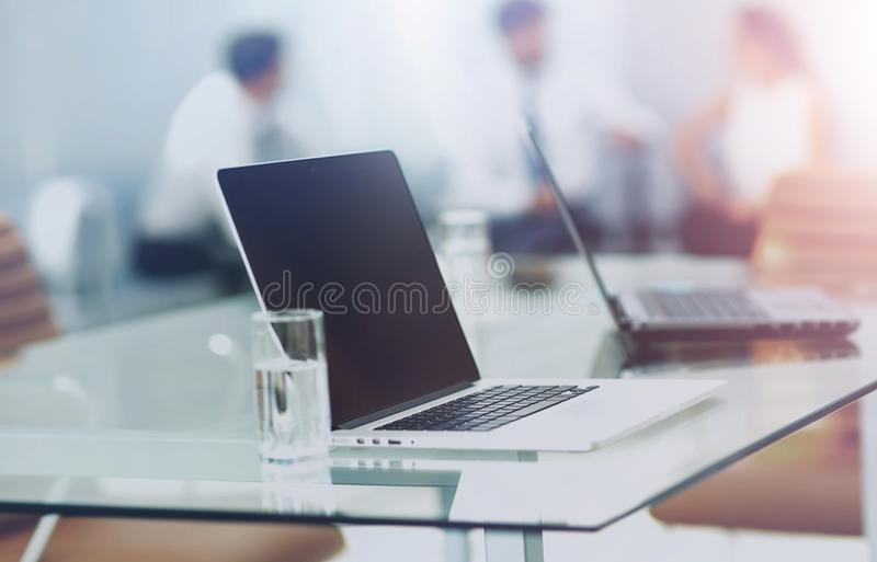 Modern office interior. Working process stock image
