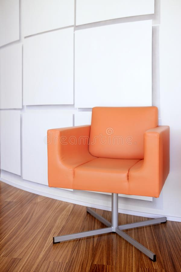 Download Modern Office Lobby With Orange Chair Stock Photo - Image: 9740096