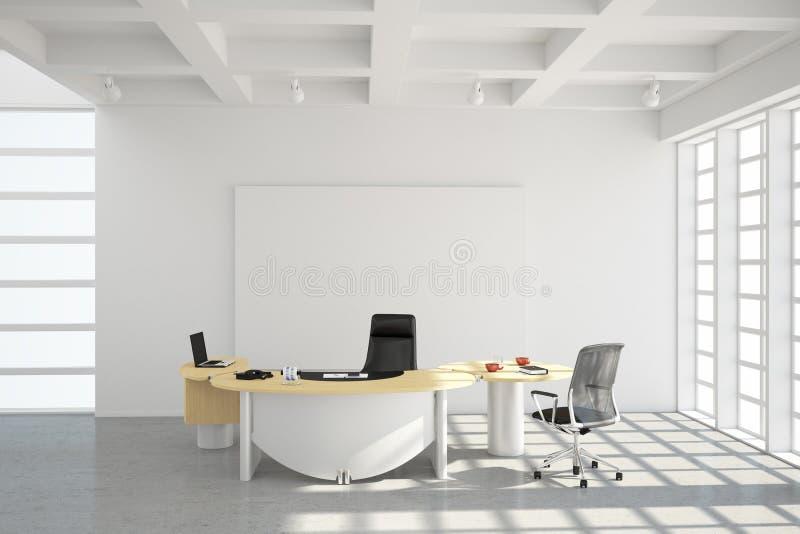 Modern office loft style vector illustration