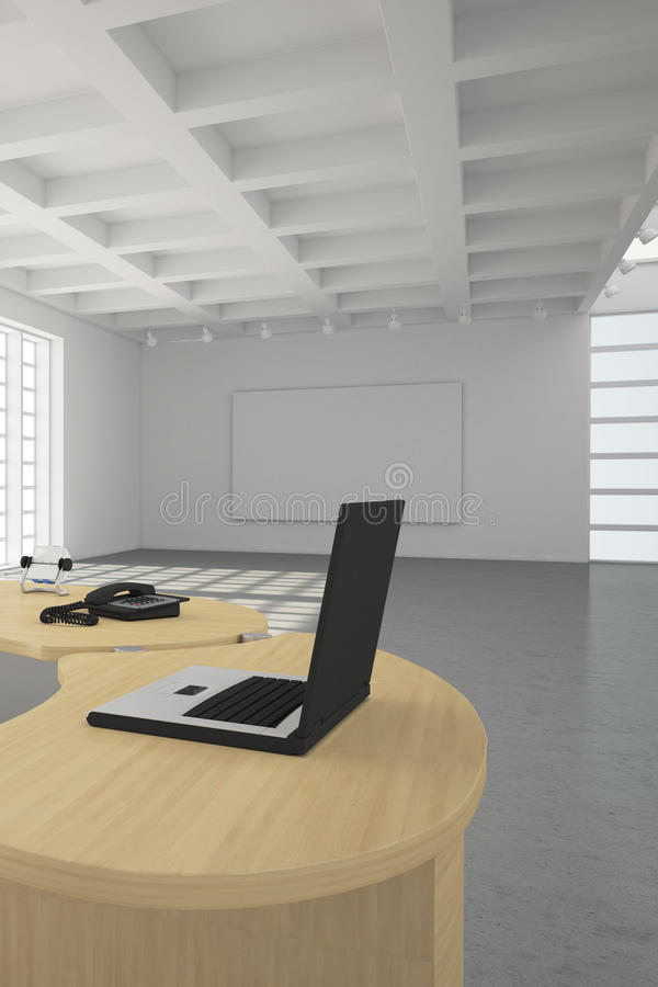 Modern office loft style royalty free illustration