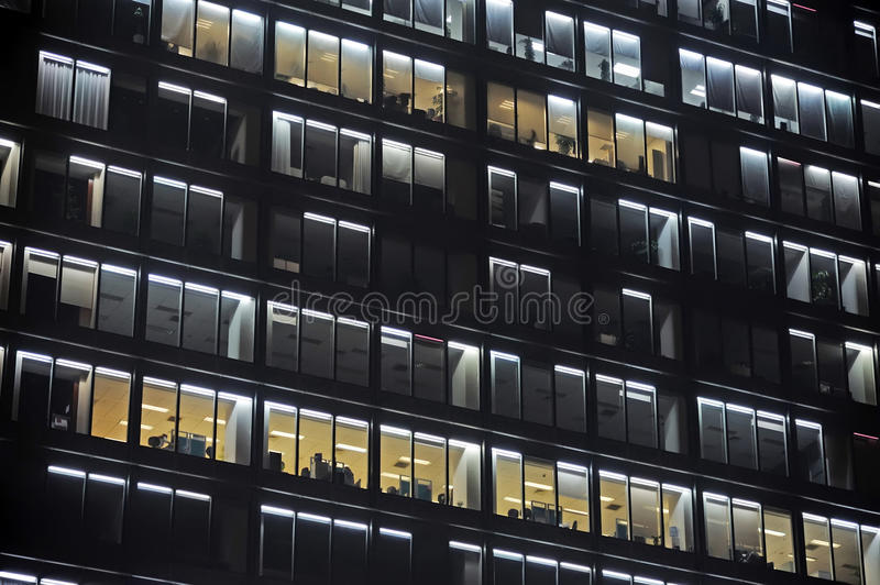 Download Modern office at night stock photo. Image of black, background - 25086688