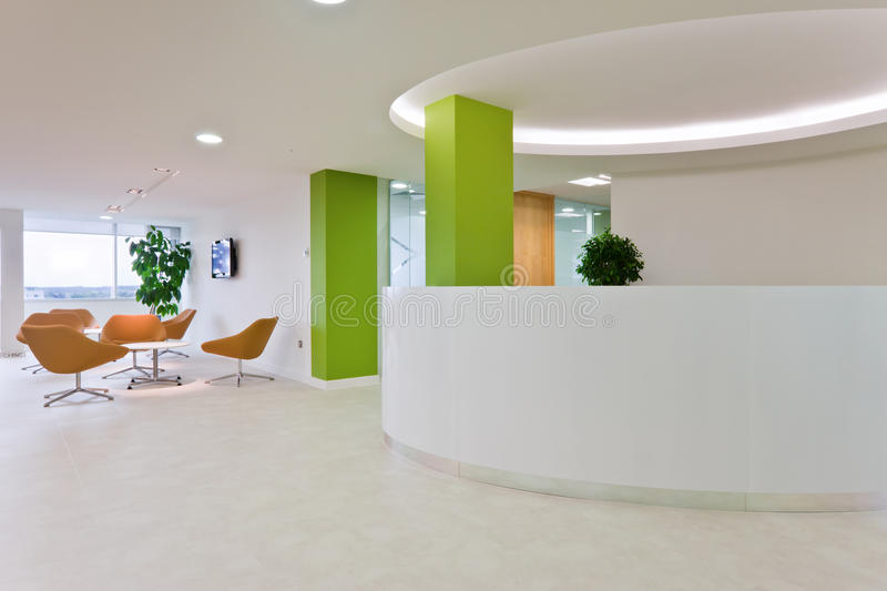 Download Modern office reception stock photo. Image of reception - 16907972