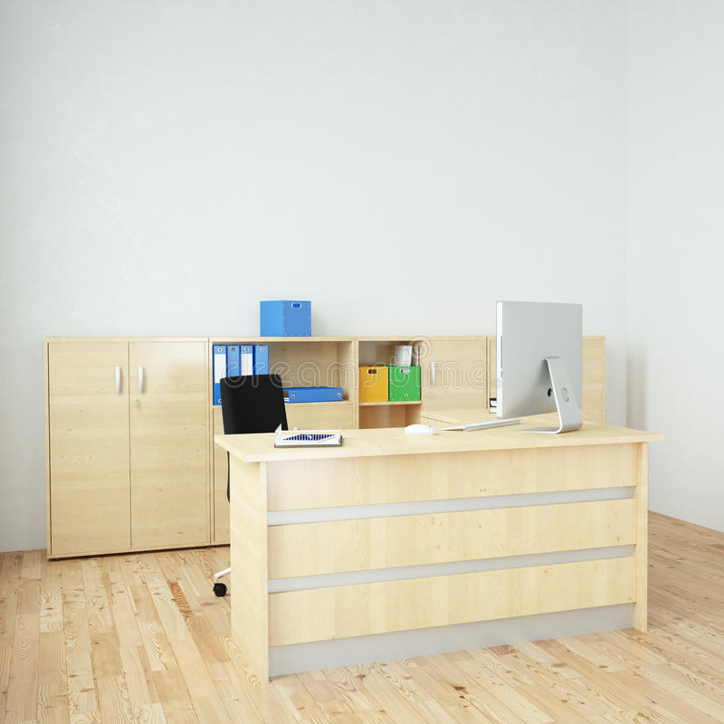 Modern office square vector illustration