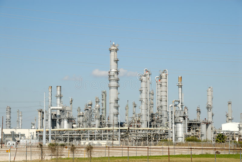 Modern oil refinery. In Texas, USA royalty free stock photos