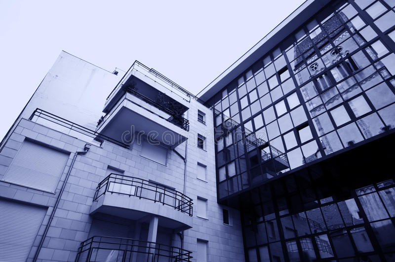 Modern and old architecture royalty free stock photos