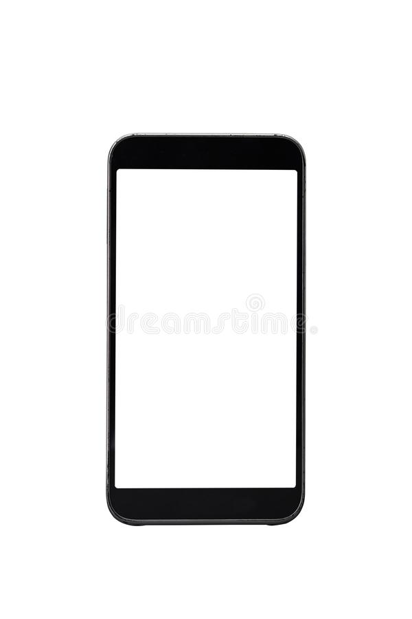 Modern smart phone White screen royalty free stock photography