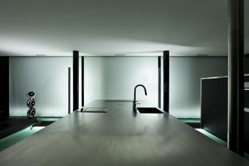 Modern ontwerp, keuken stock afbeelding