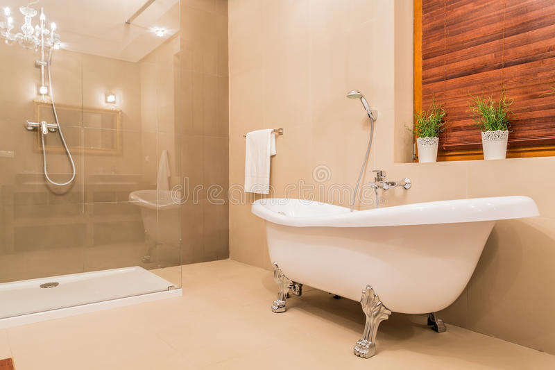 Modern ontwerp van badkamers royalty-vrije stock afbeeldingen