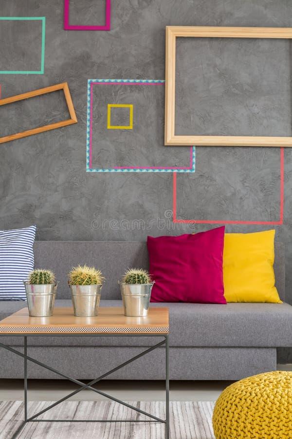Modern ontwerp van zitkamer stock afbeelding