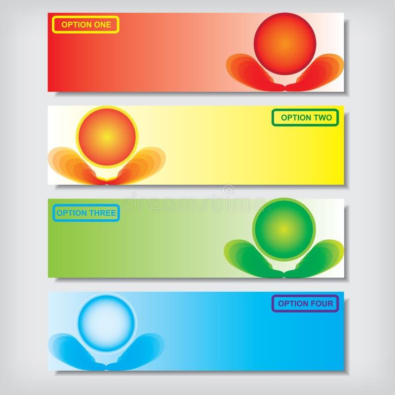 Modern ontwerpmalplaatje als achtergrond of websitelay-out Informatie-grafiek Vector stock illustratie