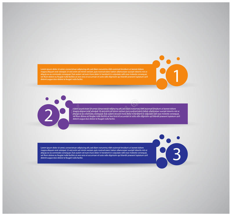 Modern ontwerpmalplaatje/genummerde banners vector illustratie
