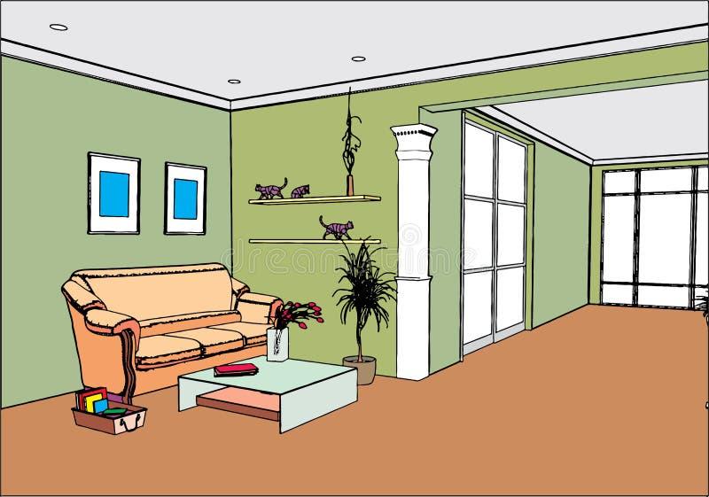 Modern open binnenland royalty-vrije illustratie