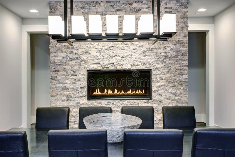 Download Modern Open Floor Plan Dining Room Design Stock Image