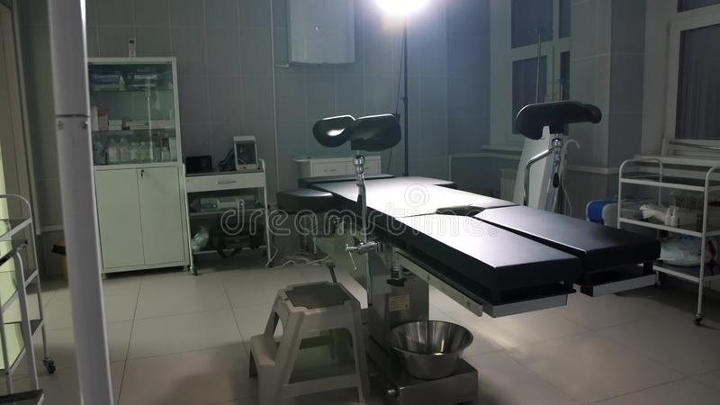 Modern operating table medical devices ,operating room dolly royalty free stock images