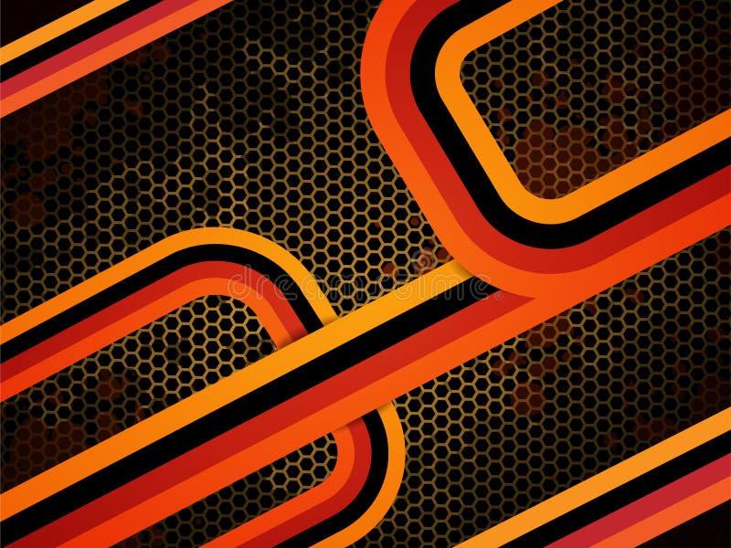 Download Modern orange för bakgrund vektor illustrationer. Illustration av form - 19790414