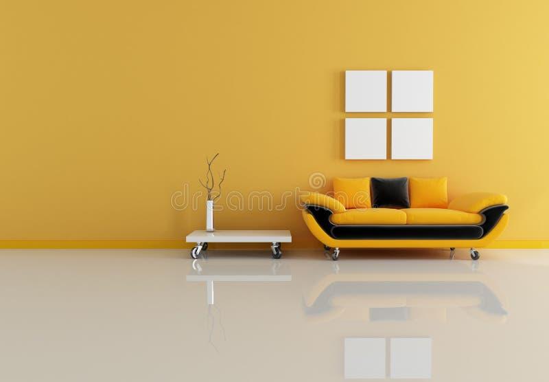 modern orange living room stock images