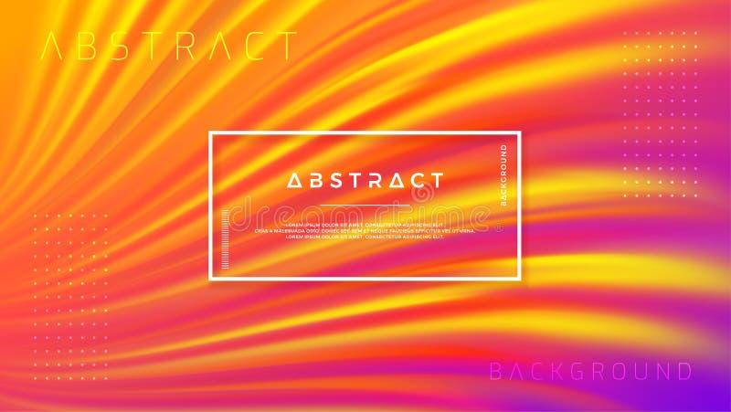 Modern orange, purple liquid wave background. Dynamic abstract purple, orange texture vector background. Eps10 vector illustration stock illustration