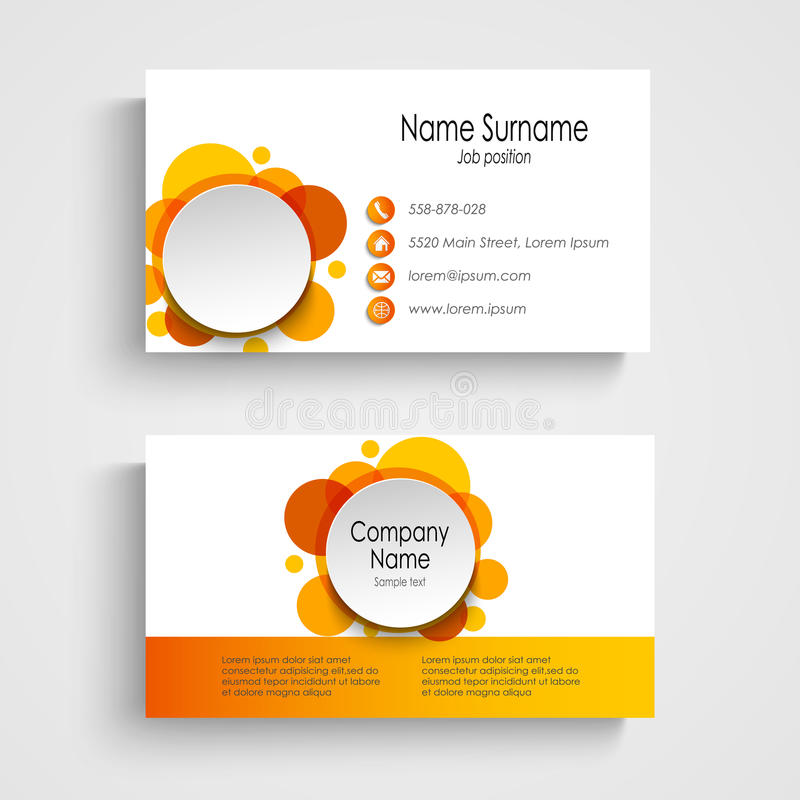 Modern orange round business card template stock vector download modern orange round business card template stock vector illustration of element business flashek Image collections