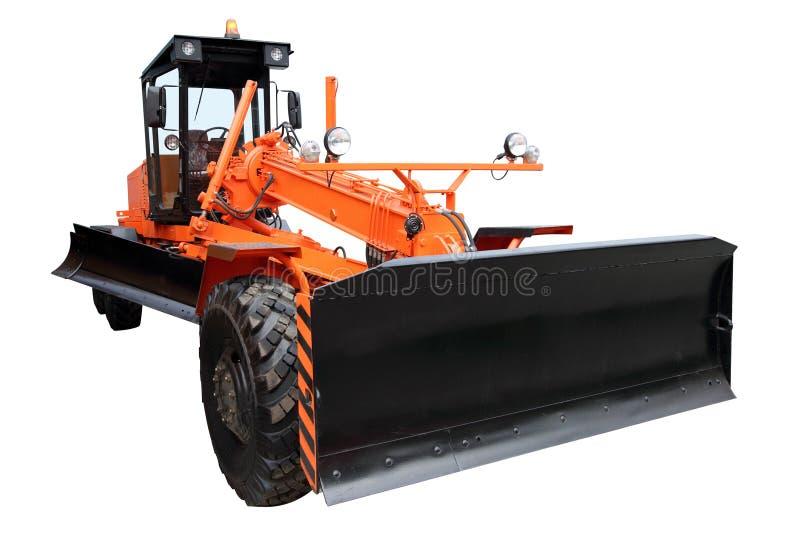 Download Modern orange väghyvel arkivfoto. Bild av kraftigt, tungt - 37345238