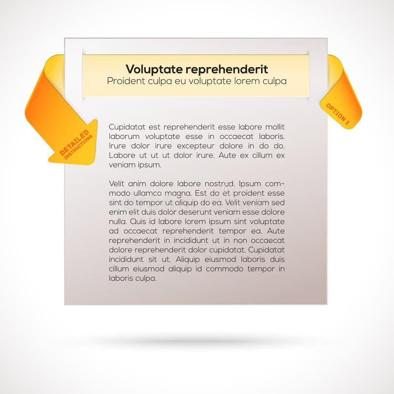 Modern orientering. Infographic presentationsmall vektor illustrationer