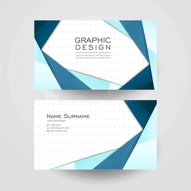 Modern Origami Style Design For Business Card Stock Vector ...