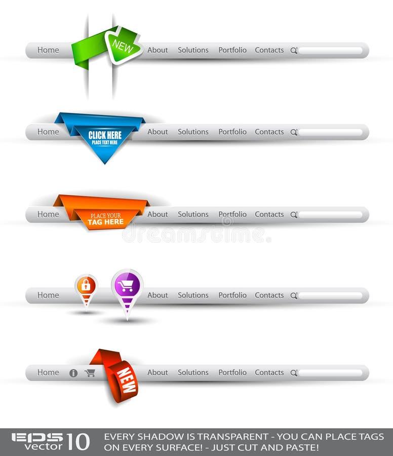 Modern original style web headers stock illustration