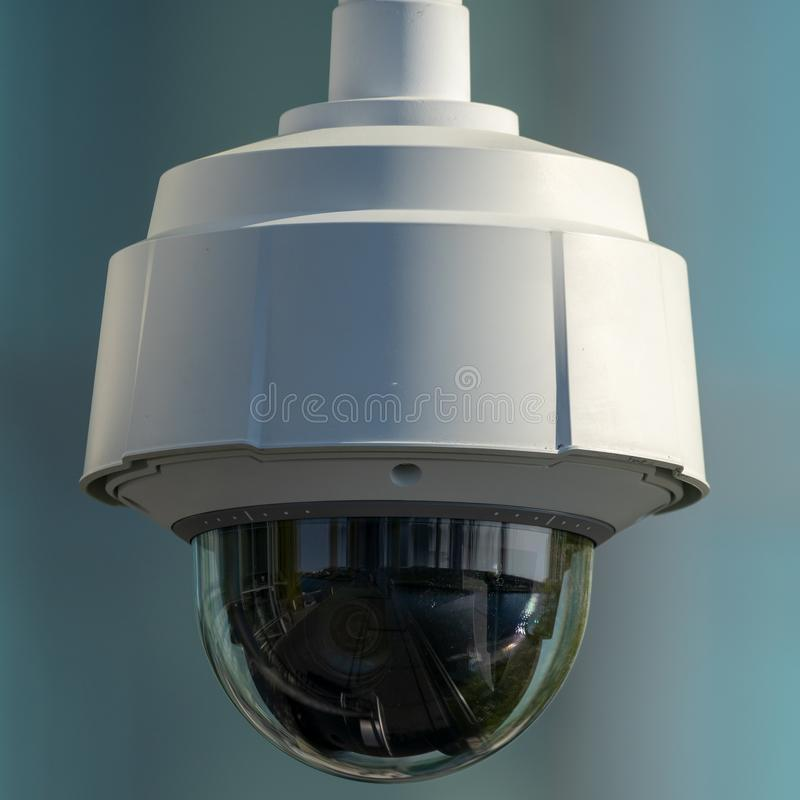 Modern outdoor luminaire equipped with an energy-saving light source. Technology royalty free stock image
