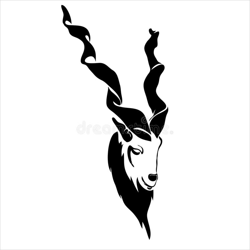 Free Modern Outline Capricorn Goat Face Vector Illustration. Stock Photos - 71637733