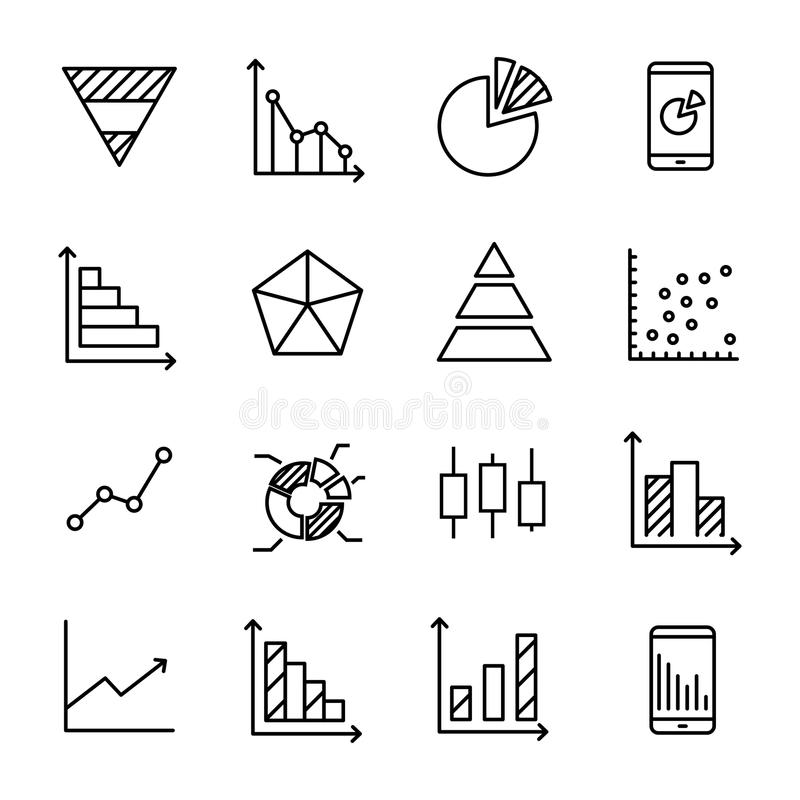 Modern outline style diagram icons collection stock vector modern outline style diagram icons collection premium quality symbols and sign web logo collection pack modern infographic logo and pictogram ccuart Image collections