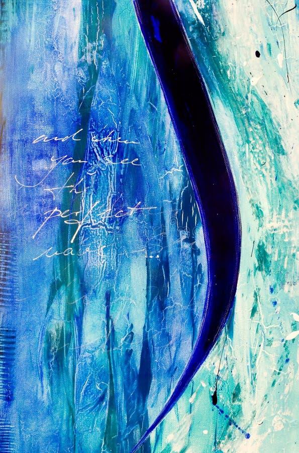 modern painti för abstrakt akryl royaltyfri illustrationer