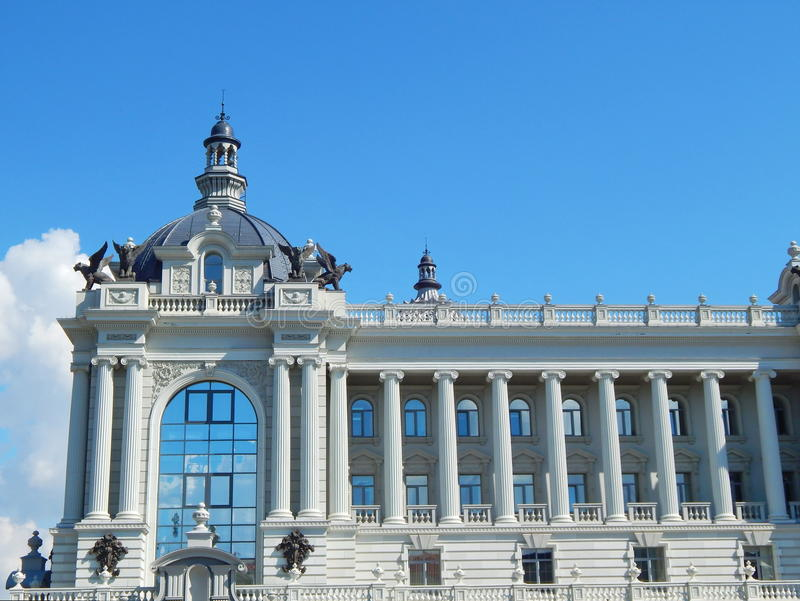 Modern Palace of Farmers in the city of Kazan in the republic Tatarstan in Russia. stock images
