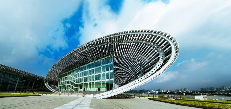 modern panorama- sikt för arkitektur arkivbild
