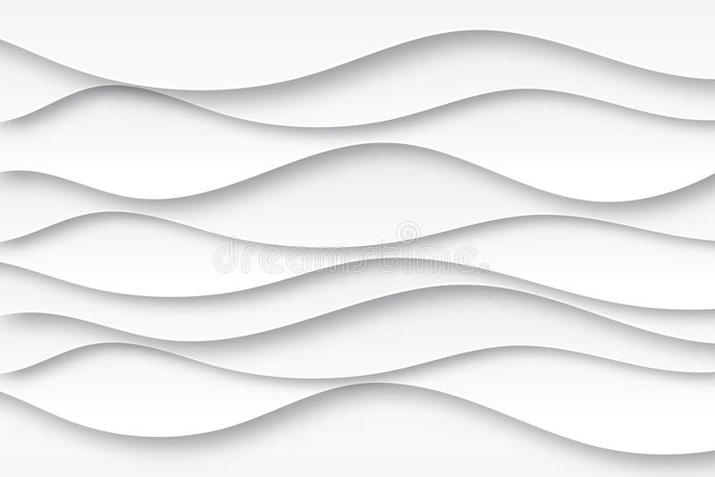 Download Modern Paper Art Cartoon Abstract White And Gray Water Waves Stock Vector