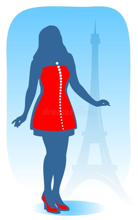 Modern Parijse meisje royalty-vrije illustratie
