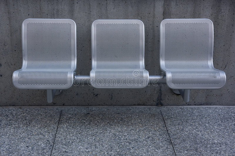 Modern park chairs stock photography