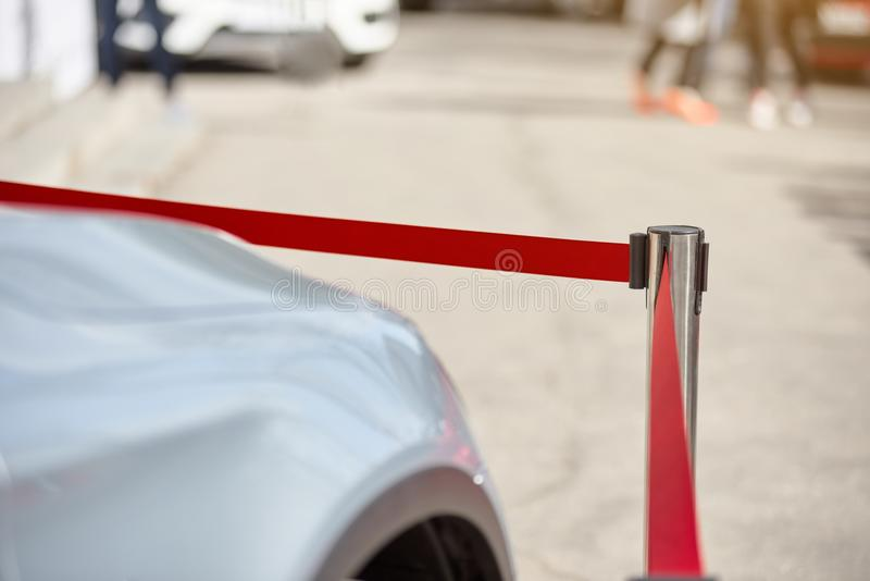 Modern parked car royalty free stock images