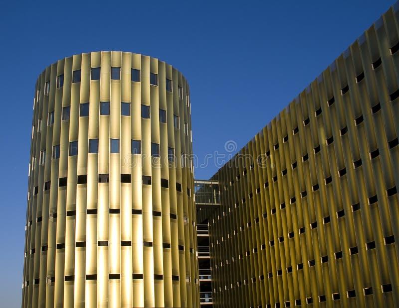 Modern parking building stock image