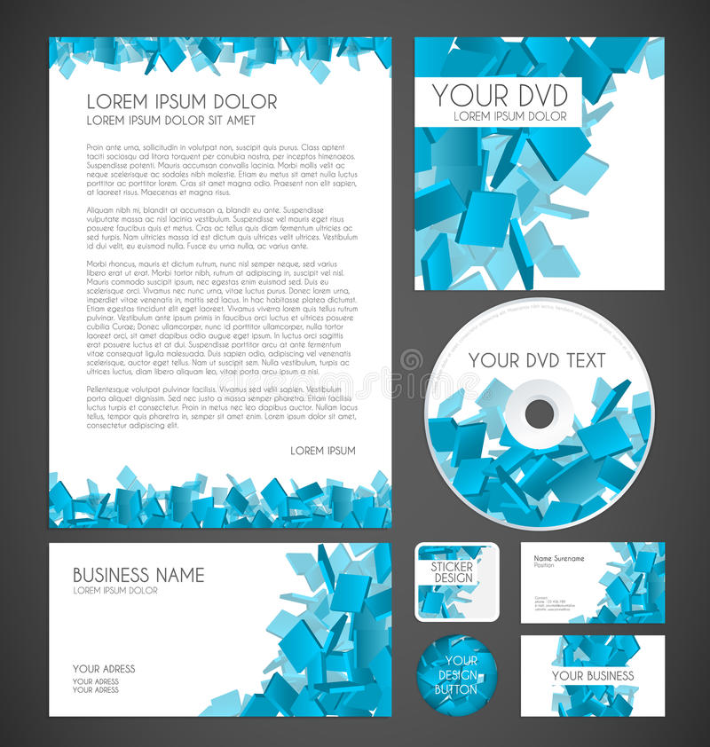 Modern Particles Graphic Business Layout vector illustration