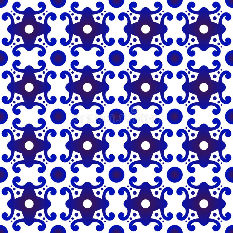 Modern pattern blue and white stock photography