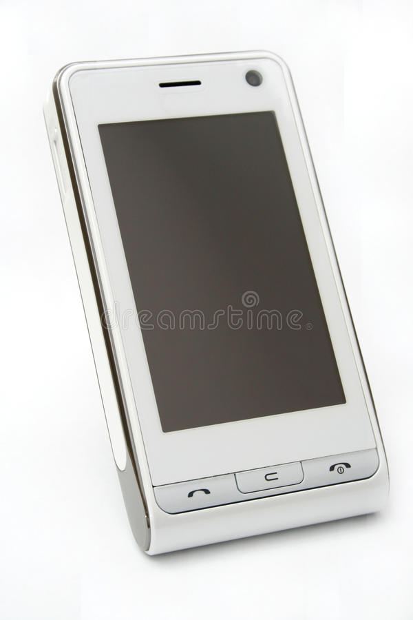 Modern PDA touch screen mobile phone stock image