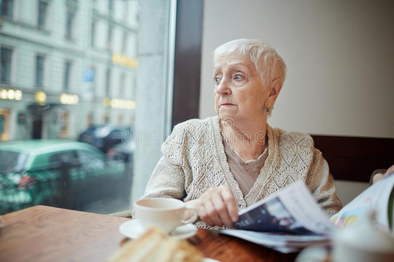 Modern pensioner royalty free stock image