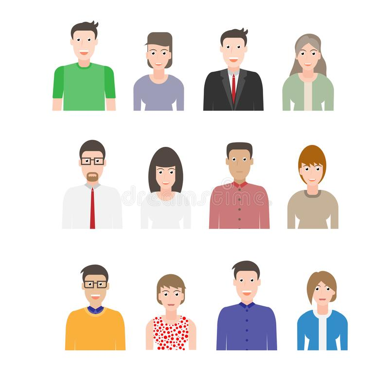 Modern peopl flat kit royalty free illustration