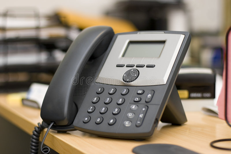 Modern Phone - VoIP. A VoIP (Voice over IP) phone on the desk